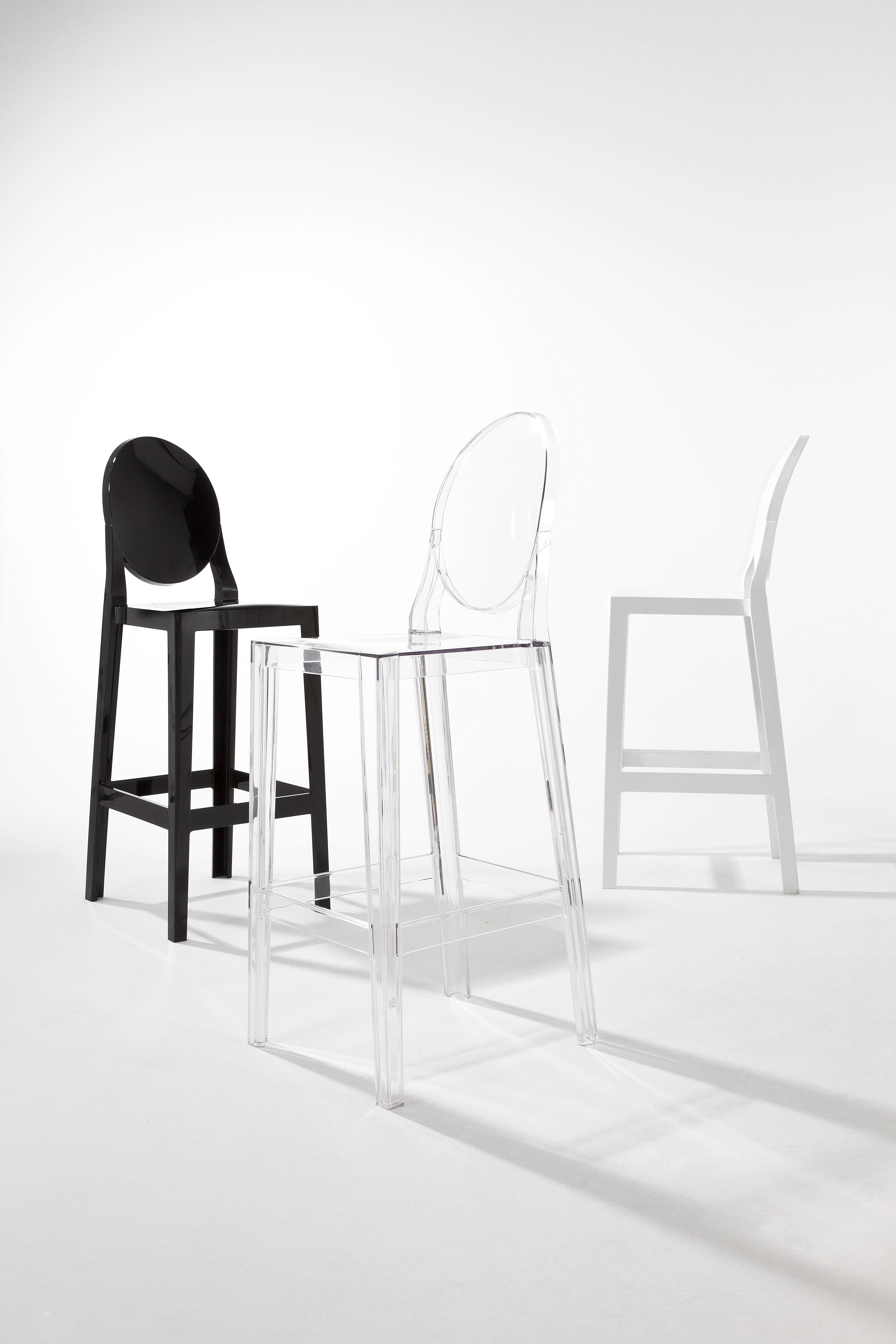 one more bar chair - h 65cm - plastic cristalkartell