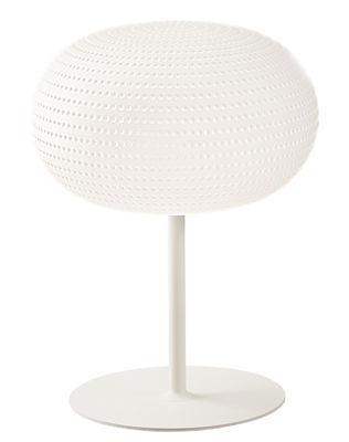 Lampe de table Bianca LED / Avec pied - Verre - Fontana Arte blanc en verre