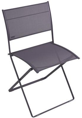 chaise pliante plein air toile prune chin fermob. Black Bedroom Furniture Sets. Home Design Ideas