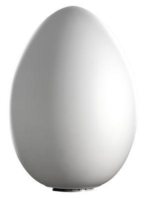 Foto Lampada da tavolo Uovo di Fontana Arte - Bianco - Vetro