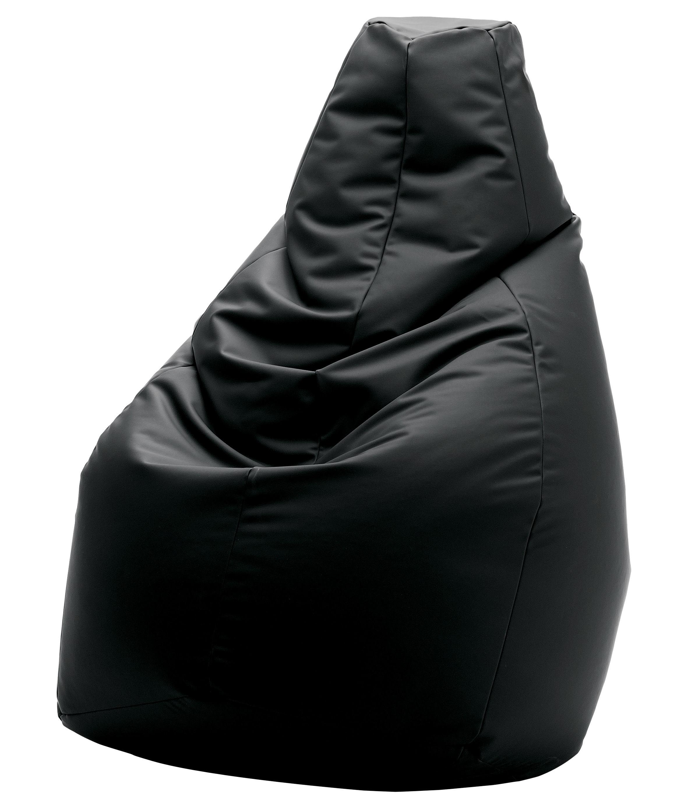 Scopri pouf sacco similcuoio volo nero di zanotta made in design italia - Pouf a sacco ikea ...