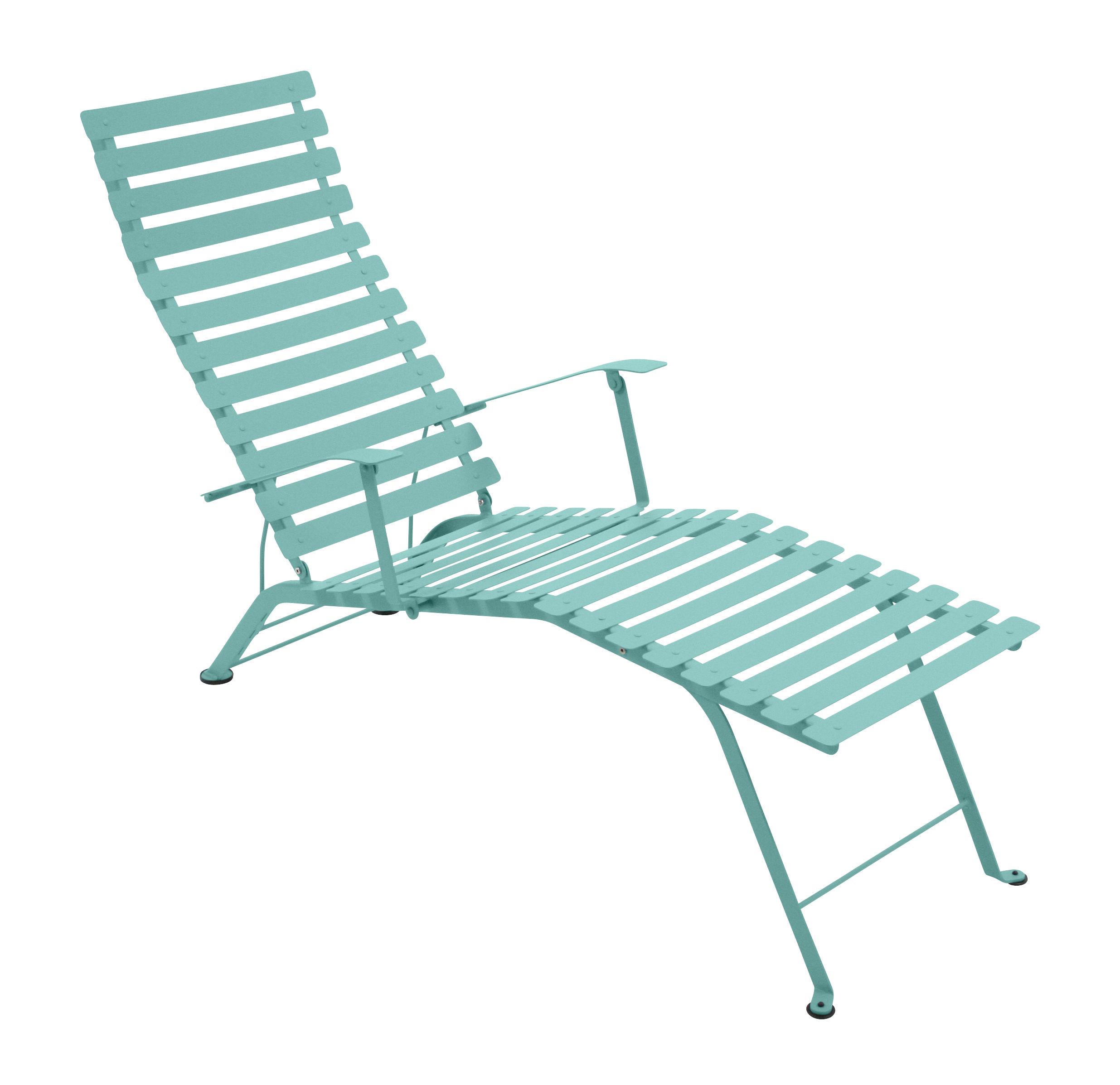 Chaise longue bistro bleu lagune fermob for Bistro chaise longue