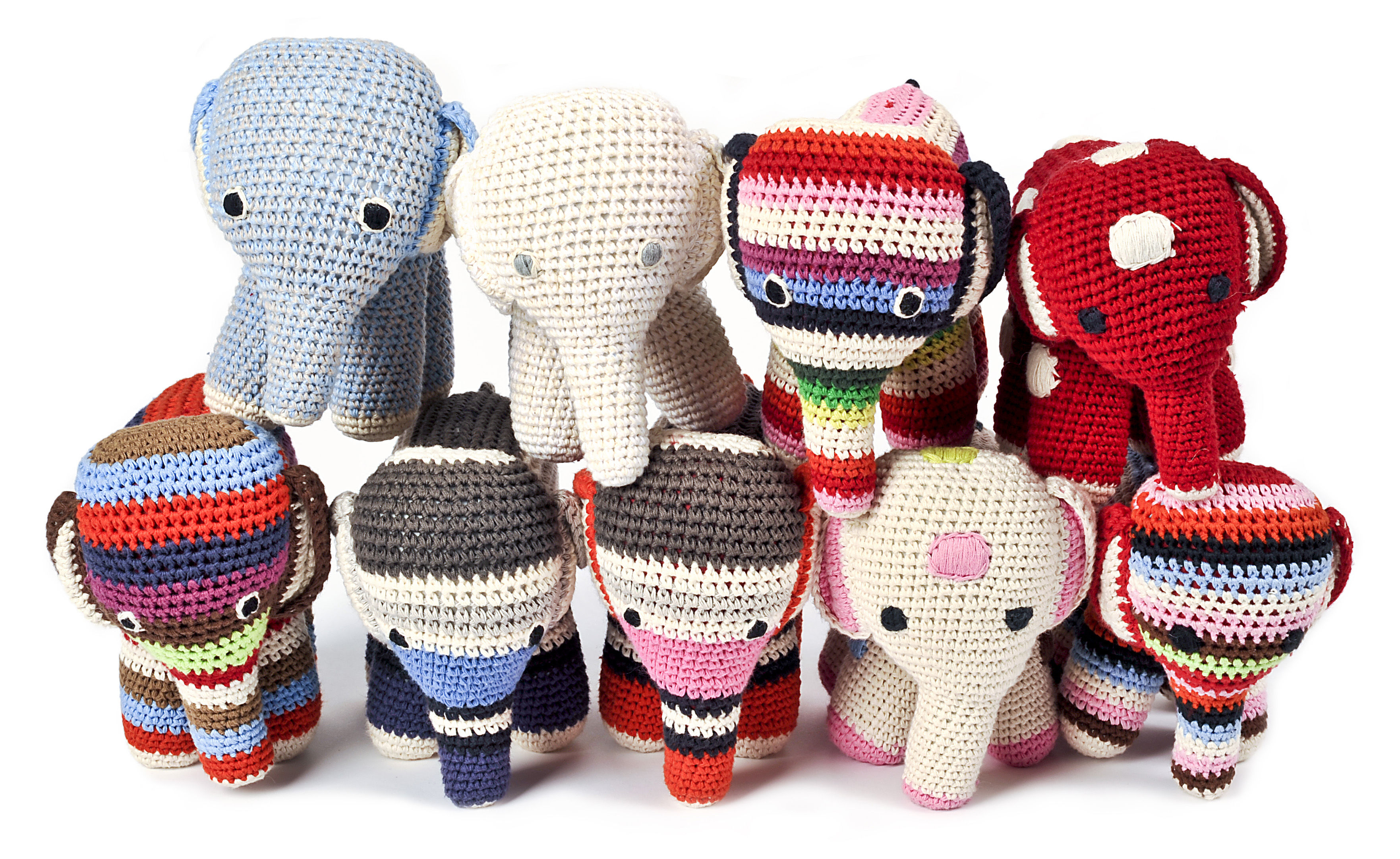 el phant cuddly toy crochet cuddly toy multicoloured by. Black Bedroom Furniture Sets. Home Design Ideas