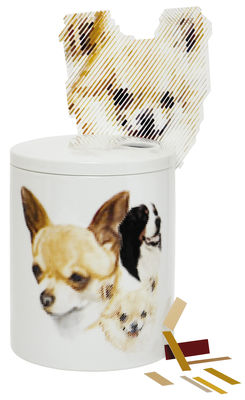 Dekoration - Vasen - Surface 01 - Dogs Schachtel - Domestic - Porzellan mit Grafik - Porzellan