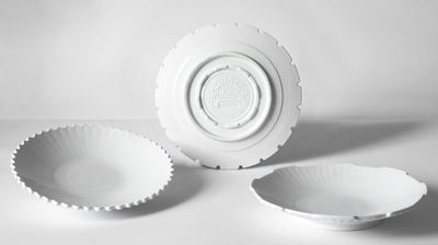 Arts de la table - Assiettes - Assiette creuse Machine Collection / Ø 23,2 cm  - Set de 3 - Diesel living with Seletti - Blanc - Porcelaine