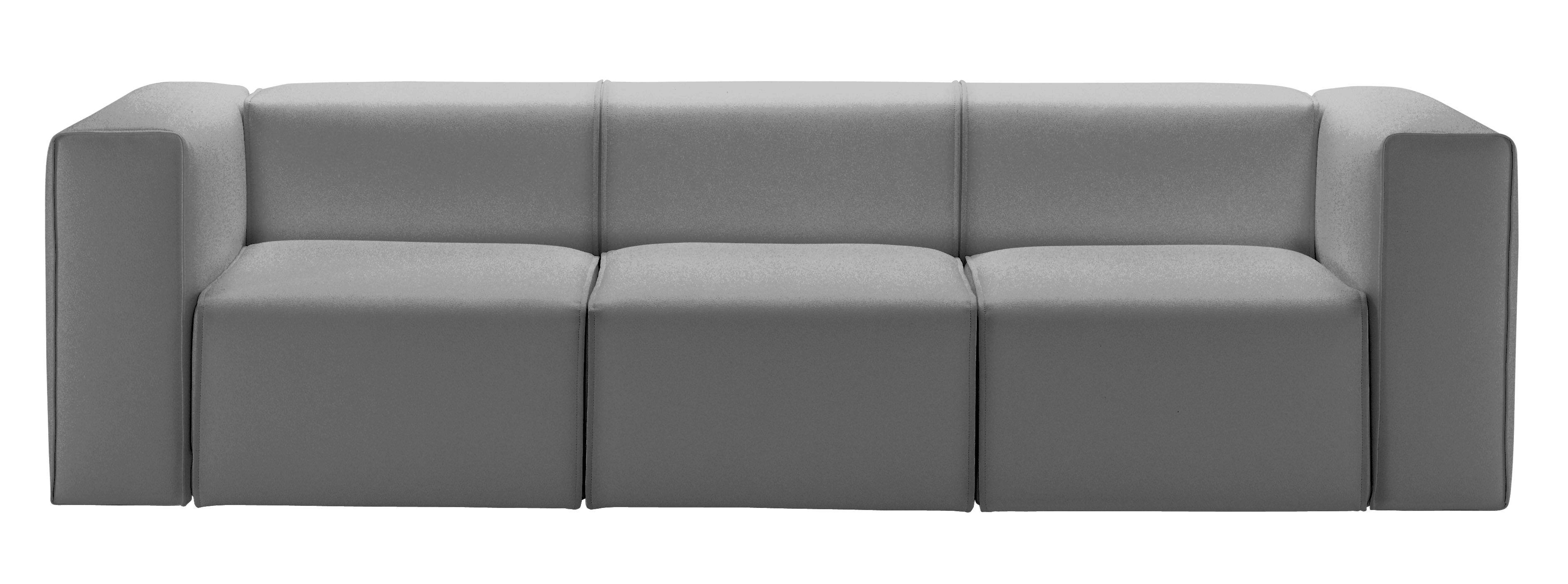 Scopri divano destro gamma tessuto 3 posti tessuto - Divano grigio antracite ...