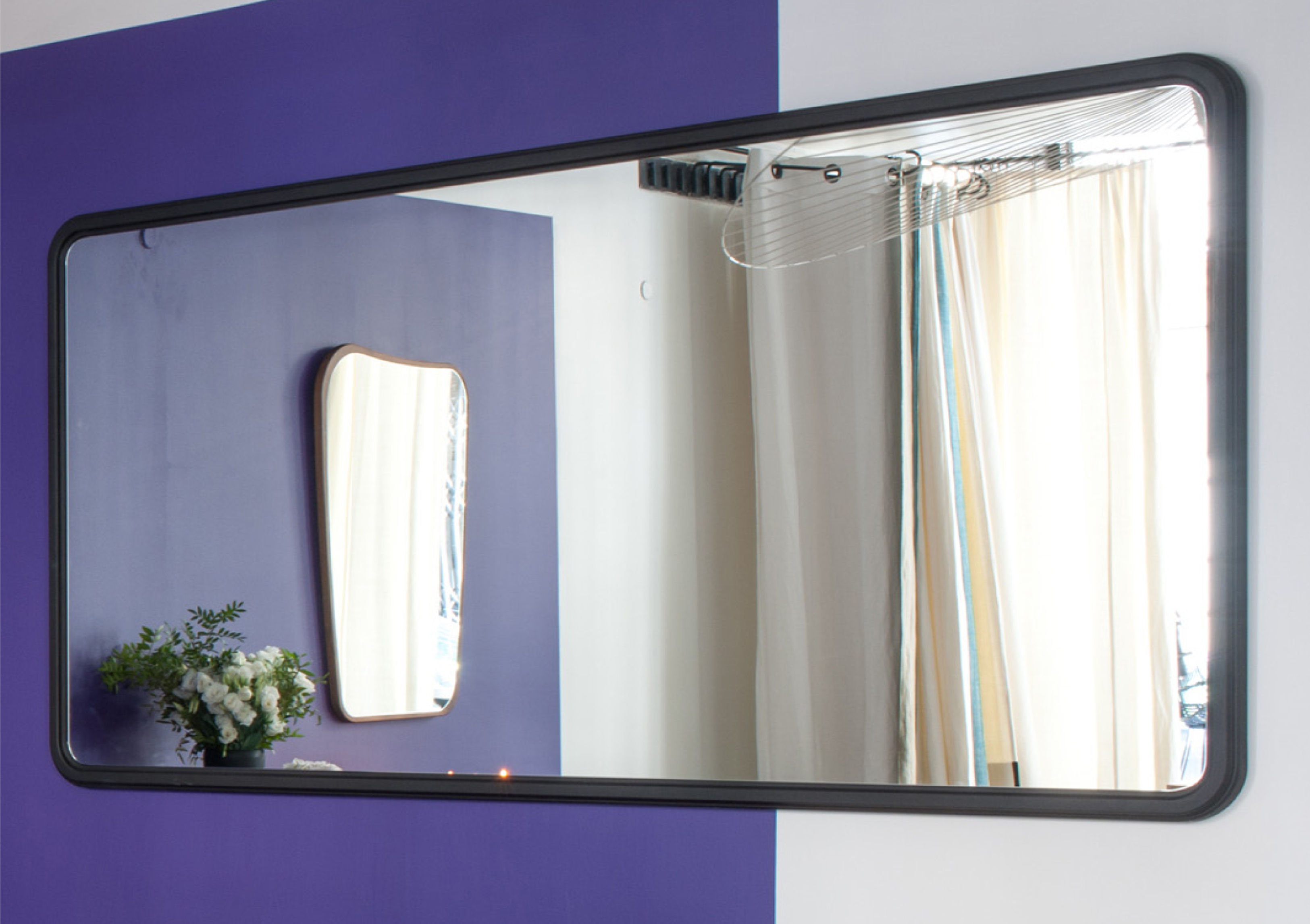 miroir mural haussmann noyer 200 x 100 cm noyer maison sarah lavoine made in design. Black Bedroom Furniture Sets. Home Design Ideas