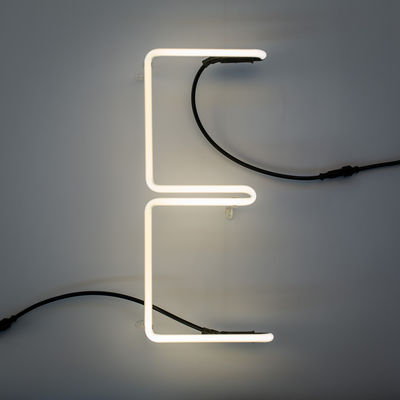 Luminaire - Appliques - Applique avec prise Néon Alphafont / Lettre E - Seletti - Lettre E - Verre