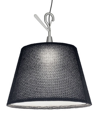 Foto Lampada Tolomeo Paralume Outdoor / Portatile da appendere - LED - Artemide - Grigio - Tessuto