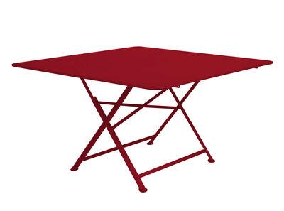 Table pliante Cargo 128 x 128 cm Fermob piment en métal