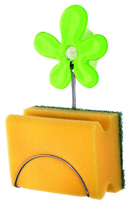 Decoration - For bathroom - A-Pril Sponge holder by Koziol - Transparent green - Plastic material