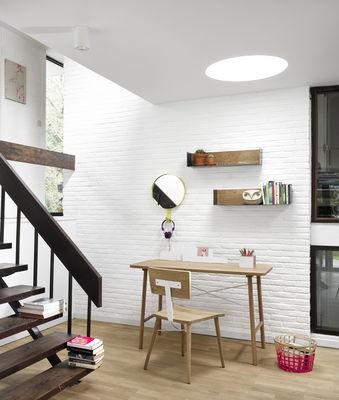 bureau cloud organiseur int gr l 120 cm bois naturel blanc universo positivo. Black Bedroom Furniture Sets. Home Design Ideas