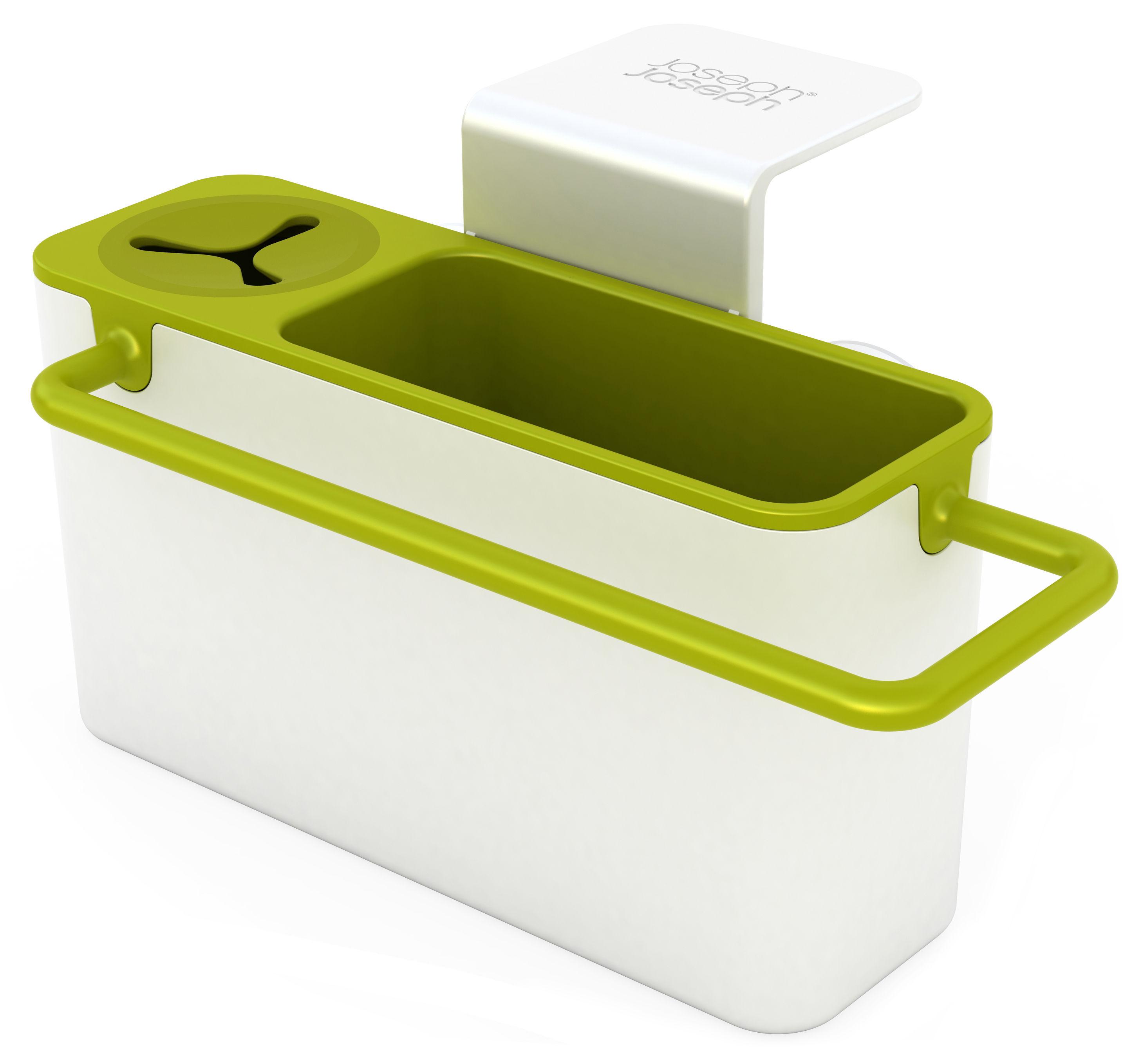 organiseur d 39 vier sink aid avec syst me d 39 vacuation blanc vert joseph joseph. Black Bedroom Furniture Sets. Home Design Ideas