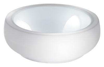 Mobilier - Tables basses - Table basse Chubby - Slide - Blanc - Polyéthylène, Verre