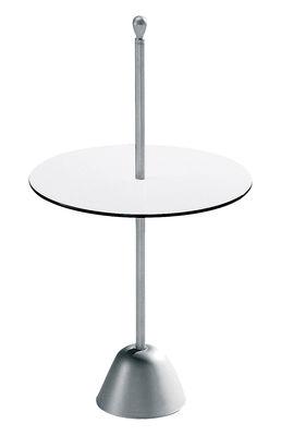 Foto Tavolino d'appoggio Servomuto di Zanotta - Bianco,Alluminio - Metallo