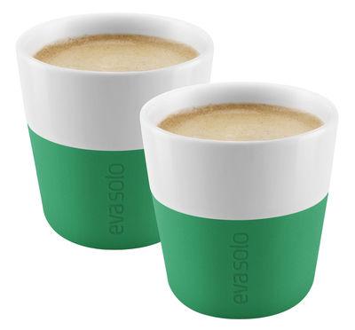 Arts de la table - Tasses et mugs - Tasse à espresso / Set de 2 - 80 ml - Eva Solo - Vert praire - Porcelaine, Silicone