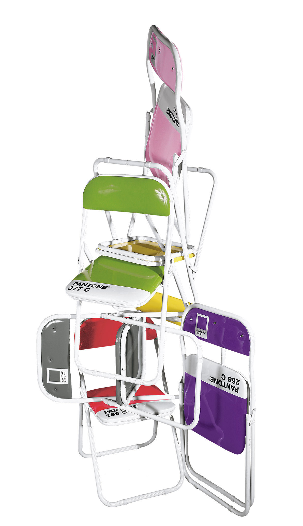 ZoomPantone Folding chair   Plastic   metal structure 186C   Ruby red  . Pantone Folding Chairs For Sale. Home Design Ideas