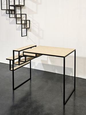 Bureau jointed l 90 cm noir bois serax for Mobilier bureau 44
