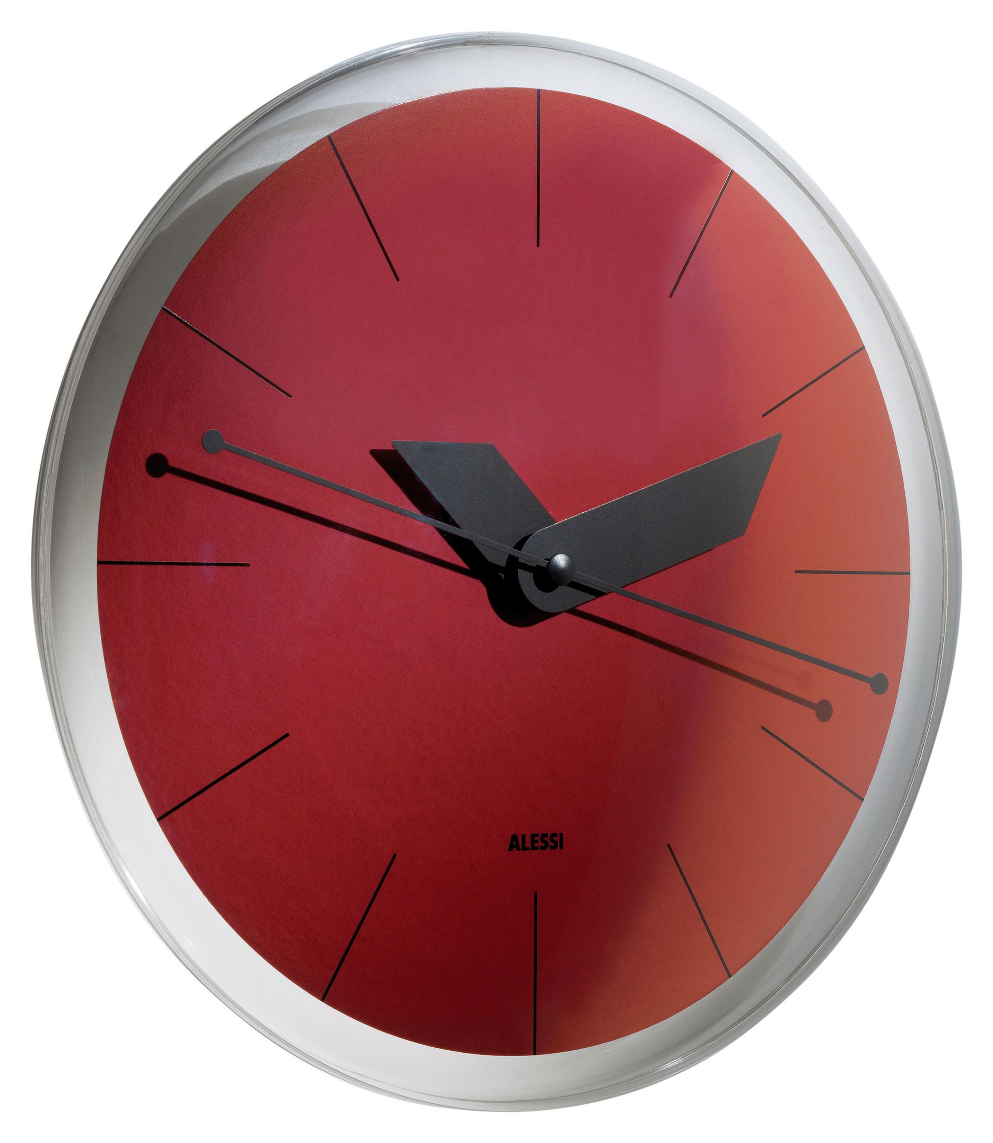 horloge murale sole rouge alessi. Black Bedroom Furniture Sets. Home Design Ideas