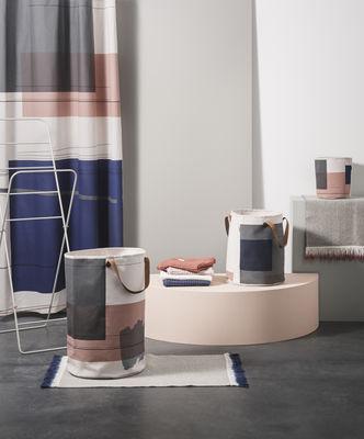 Rideau de douche colour block coton imperm abilis 160 x h 205 cm colour block multicolore - Rideau 160 de large ...