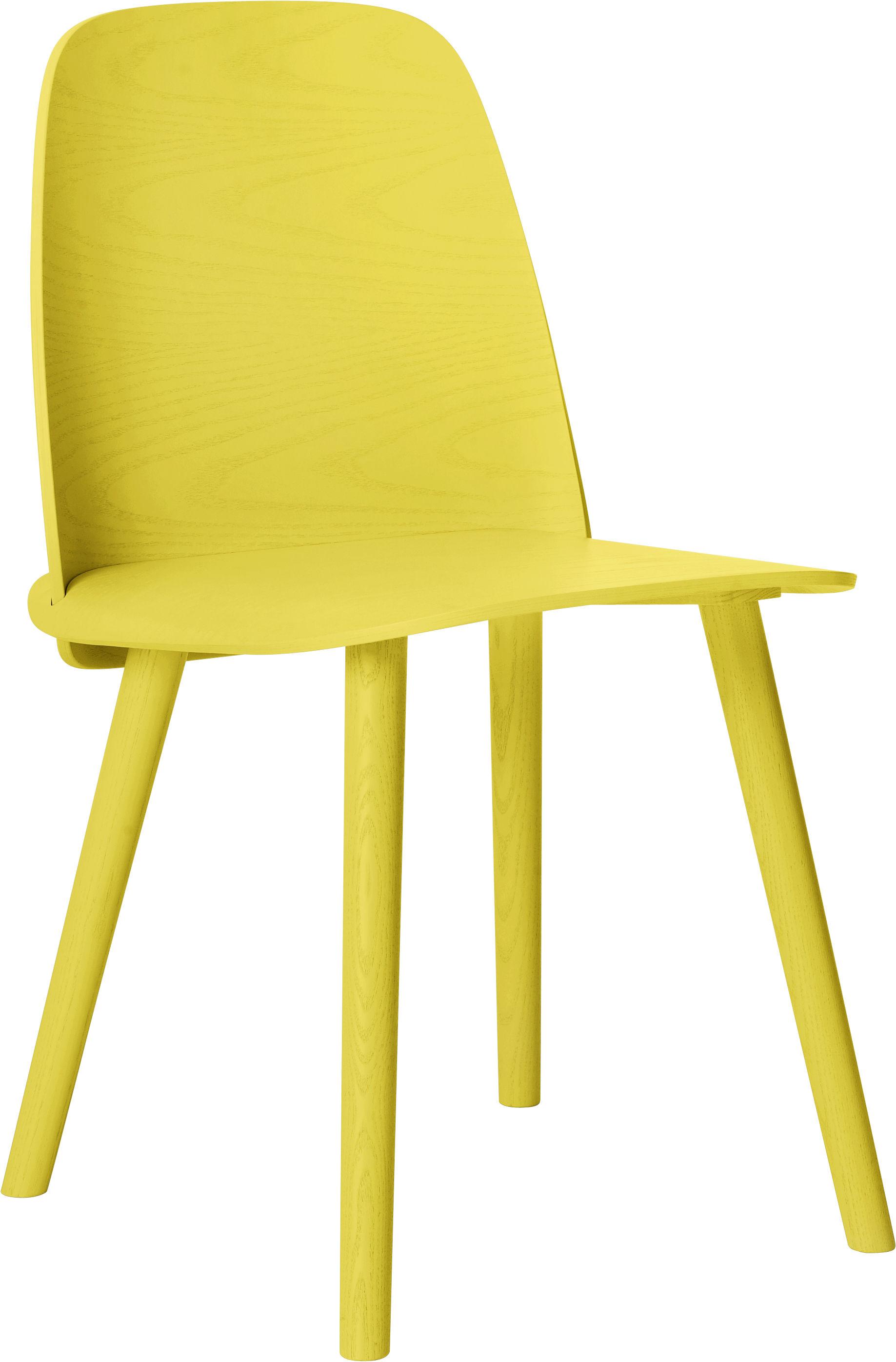 Scopri sedia nerd giallo di muuto made in design italia for Sedia ufficio gialla