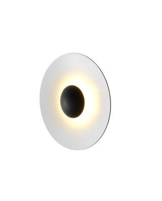 Luminaire - Appliques - Applique Ginger Small / LED - Ø 32 cm - Bois - Marset - Blanc / Extérieur chêne - Contreplaqué de chêne, Métal laqué