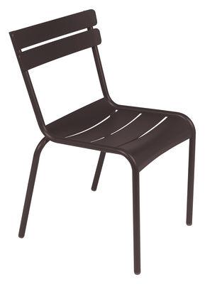 Chaise empilable Luxembourg / Aluminium - Fermob rouille en métal