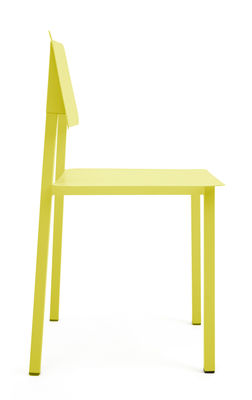 Chaise Rosalie Hartô jaune citron en métal