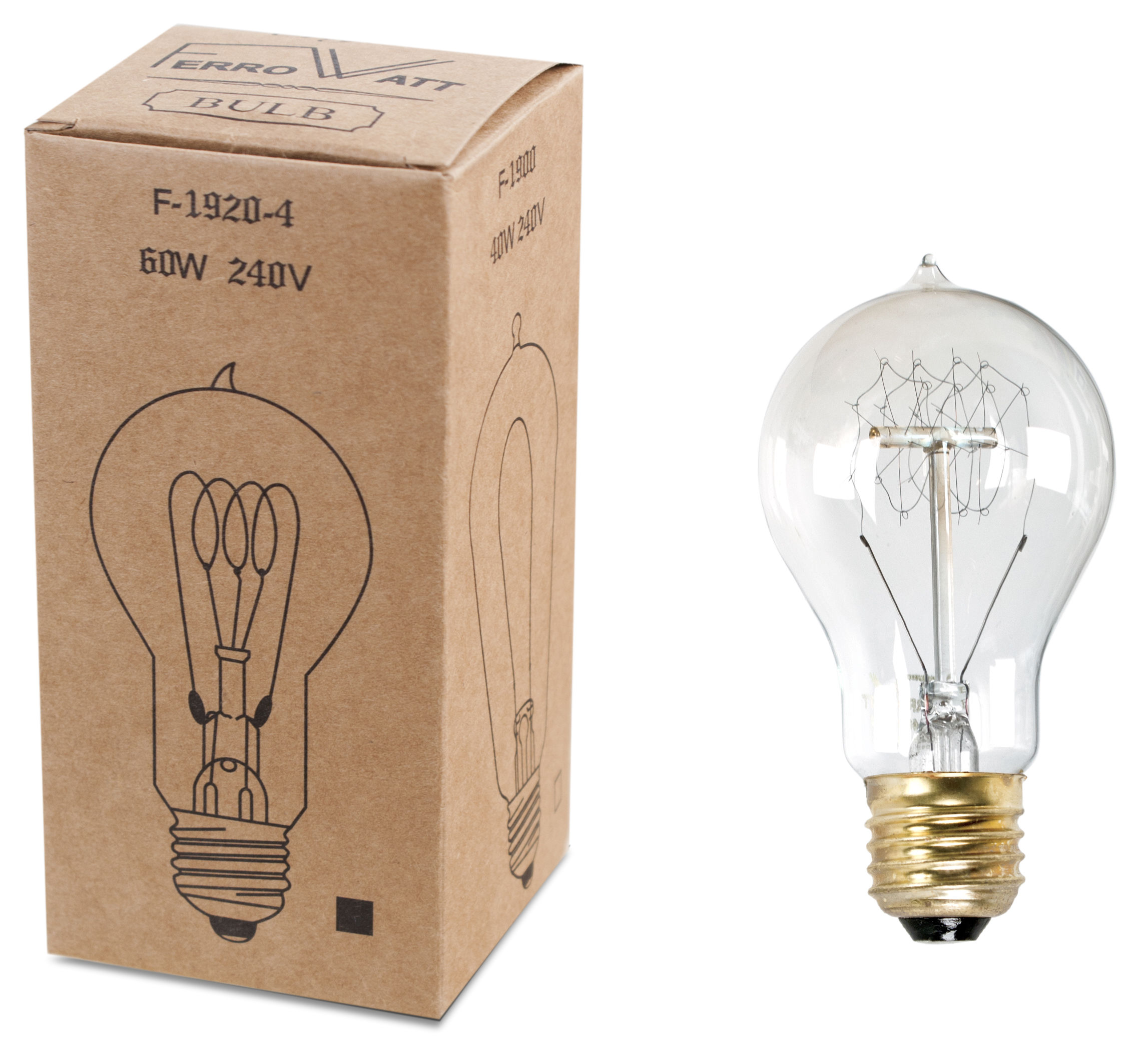 Incandescent bulb e27 40w clear by pop corn - Ampoule e27 40w ...