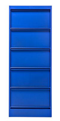 Foto Portaoggetti Classeur à clapets CC5 - / 5 scomparti - Les Couleurs® Le Corbusier di Tolix - Blu oltremare 59 - Metallo
