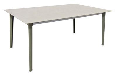 Kira Tisch / Tischplatte emailliertes Steinzeug - 100 x 180 cm - Emu - Grau