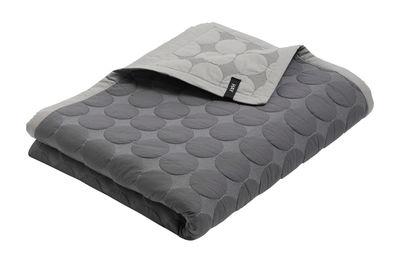 Plaid Mega Dot / 245 x 195 cm - Hay gris clair,gris foncé en tissu