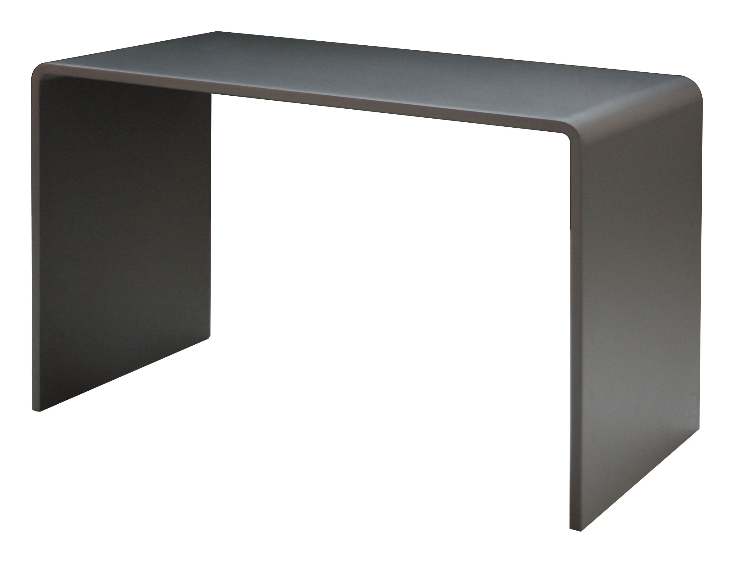 bureau solitaire l 120 cm gris canon de fusil zeus. Black Bedroom Furniture Sets. Home Design Ideas