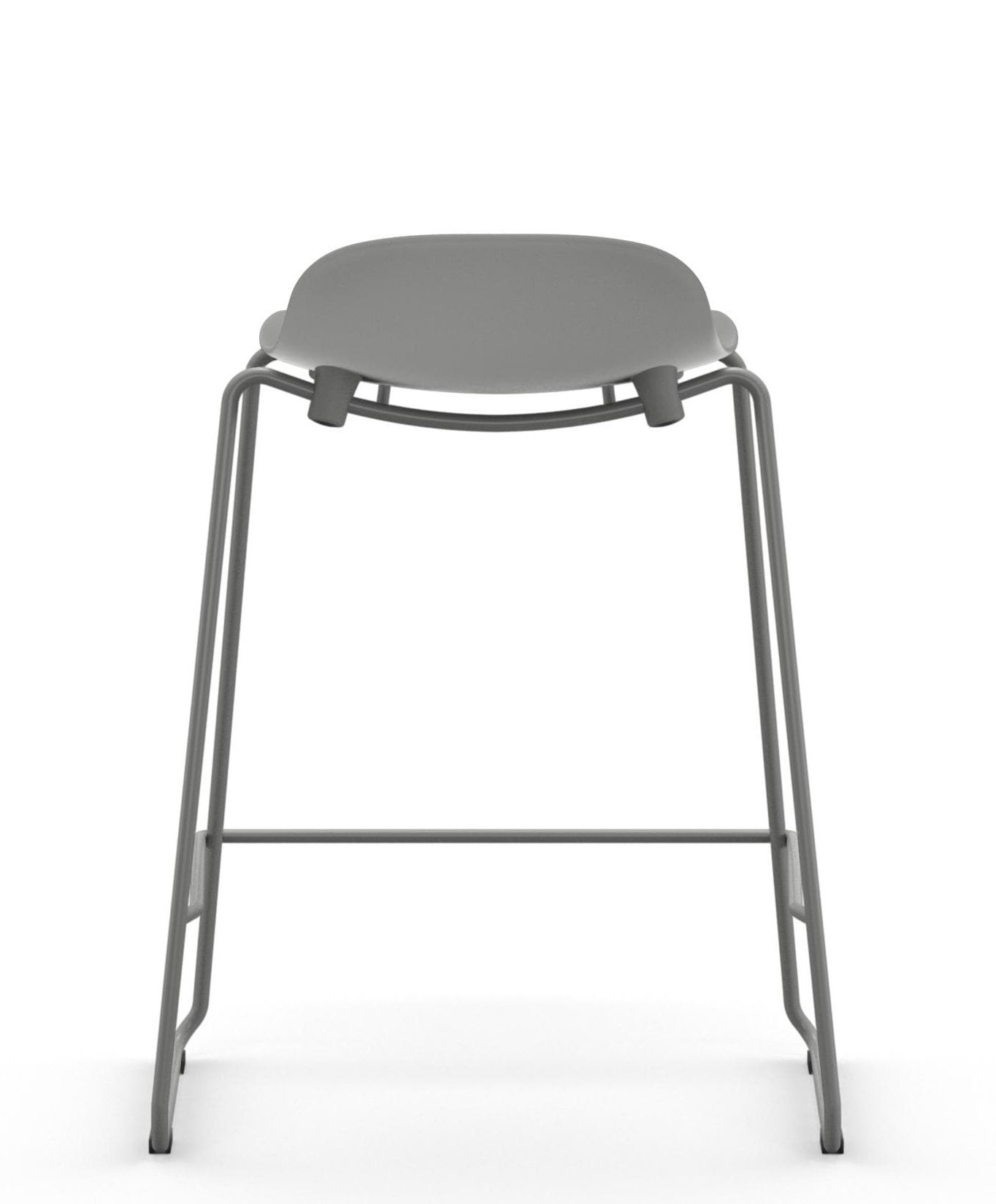 tabouret de bar form empilable pied m tal h 65 cm gris normann copenhagen. Black Bedroom Furniture Sets. Home Design Ideas