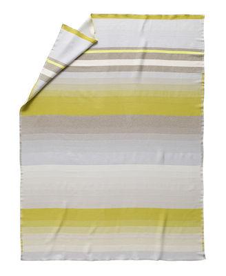 Plaid Colour n°8 / Lana - 180 x 140 cm - Hay gris,curry en tissu