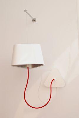 applique petit nuage l 24cm fixation murale pvc blanc laqu int rieur laqu argent mat. Black Bedroom Furniture Sets. Home Design Ideas