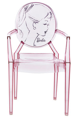 Lou lou ghost barbie children armchair pink by kartell for Chaise louis ghost kartell
