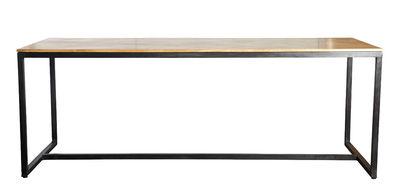 Form Tisch / Mangoholz - L 200 cm - House Doctor - Schwarz,Holz natur