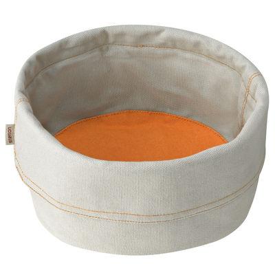 Foto Cestino da pane Bread Bag - Stelton - Grigio,Orange safran - Tessuto Portapane