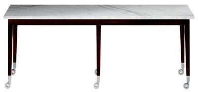 Mobilier - Tables basses - Table basse Neoz rectangulaire - Driade - Ebène/ marbre - Acajou, Marbre