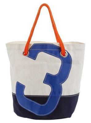 Cabas Big Dacron® Voile bateau recyclée 727 Sailbags blanc,bleu,bleu marine en tissu