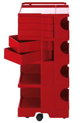 Foto Carrello/tavolo d'appoggio Boby - h 94 di B-LINE - Rosso - Materiale plastico