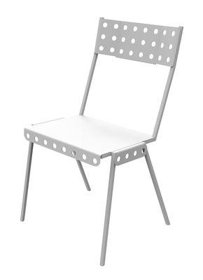 Chaise empilable Bistrot Métal Meccano Home blanc en métal
