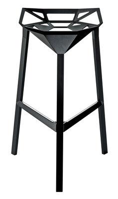 Furniture - Bar Stools - Stool One Bar stool - H 77 cm - Metal by Magis - Black - Aluminium
