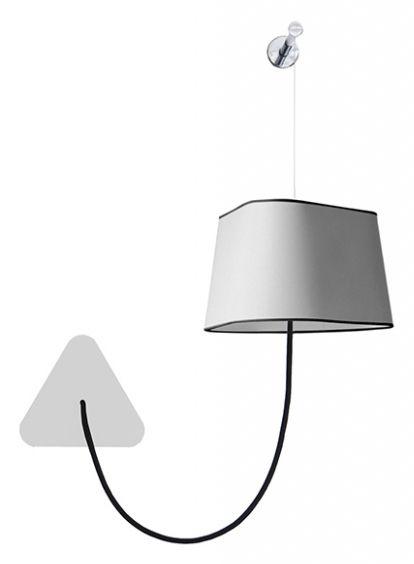 applique petit nuage l 24cm fixation murale tissu blanc avec bordure noire designheure. Black Bedroom Furniture Sets. Home Design Ideas