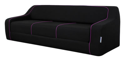 Canap convertible loops by ora ito l 225 cm noir prune passepoil prune - Canape dunlopillo ora ito ...