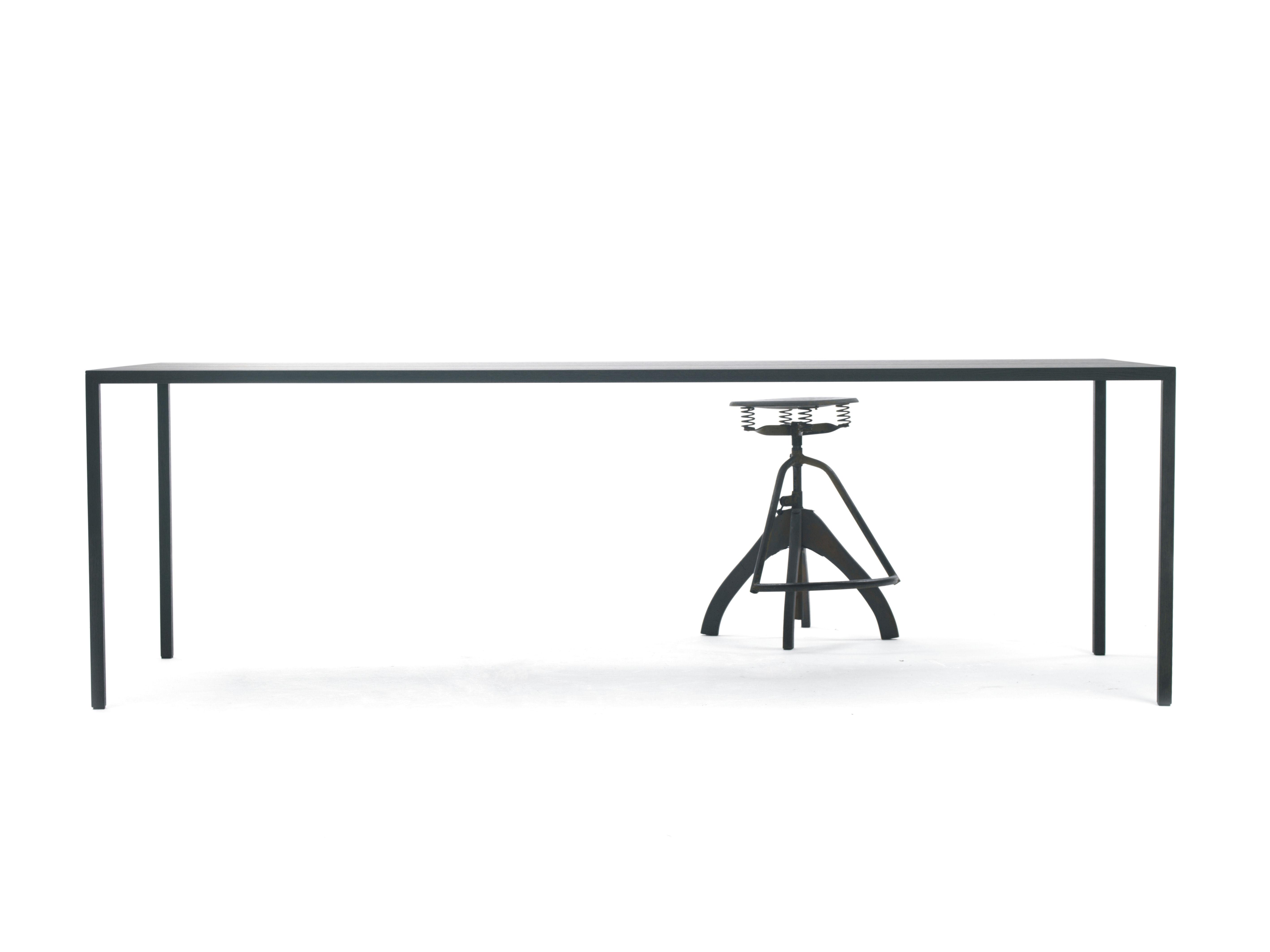 table slim    160 x 90 cm 160 x 90 cm    ch u00eane noir
