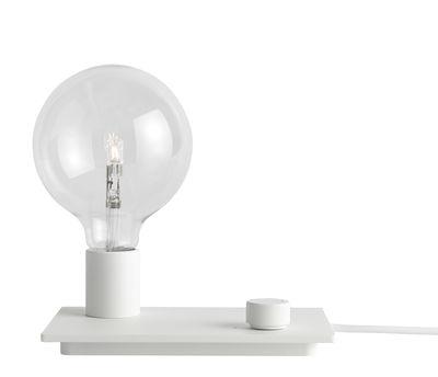 Luminaire - Lampes de table - Lampe de table Control / Métal - Variateur - Muuto - Blanc - Fonte d'aluminium