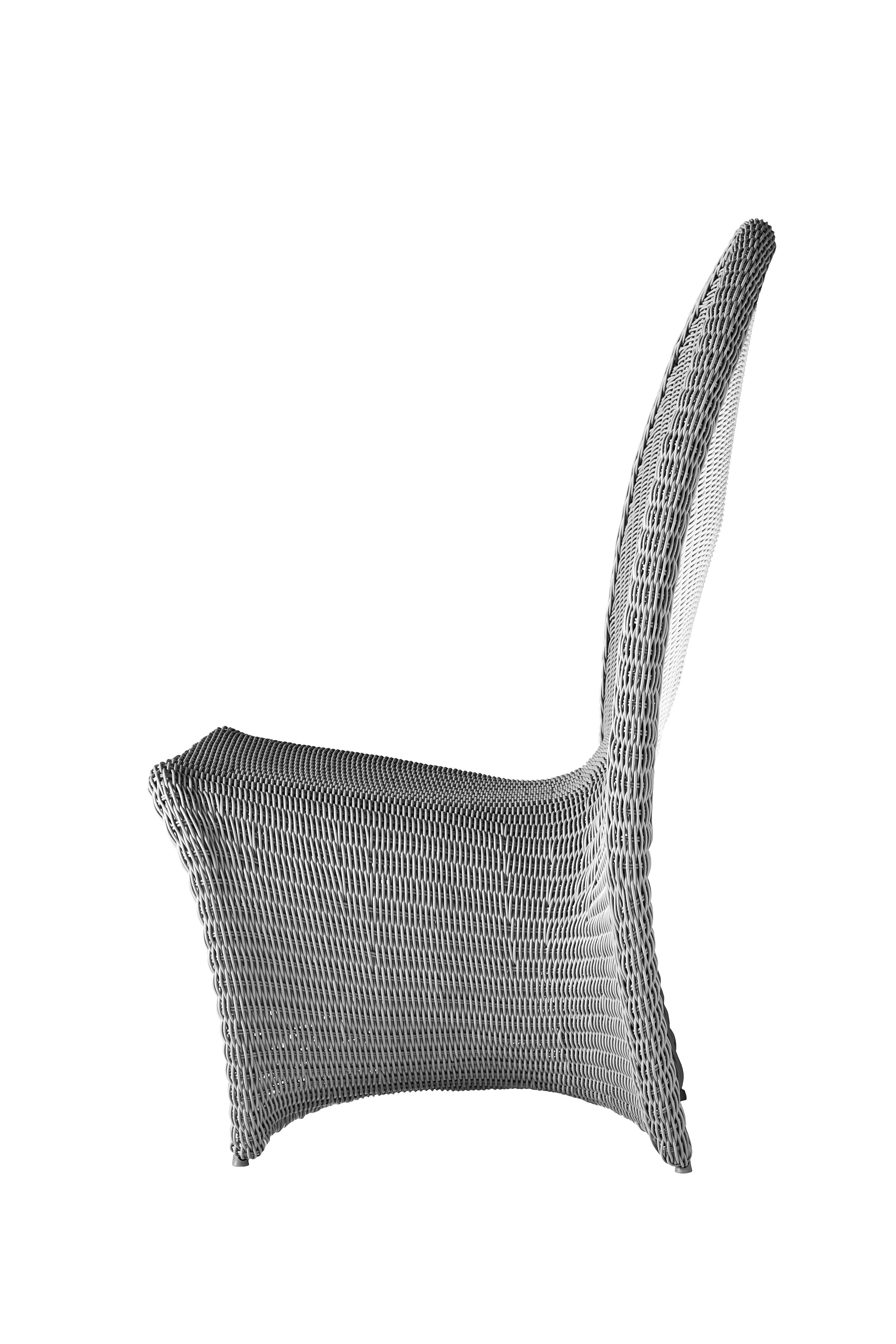 Fauteuil 36 h ext rieur gris int rieur blanc driade for Fauteuil exterieur gris
