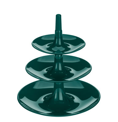 Serviteur Babell XS / Ø 20 x H 22 cm - Koziol vert sapin en matière plastique